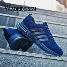 WINDRIDERISM Flyknit Men Sneakers Breathable Air Cushion Damping Shoes Lightweight Fashion Casual Shoes Zapatos Para Correr
