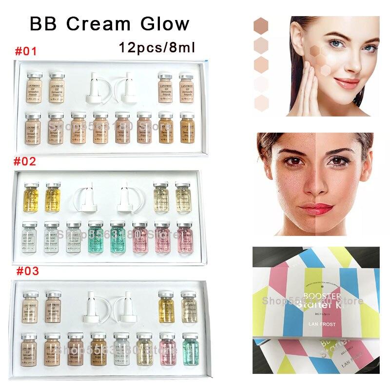 12pcs 8ml Natural Nude Concealer BB Cream Mixed Set Meso White Brightening Anti-aging Serum Long-lasting Whitening Glow Cream