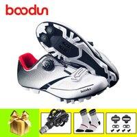 Boodun patilha ciclismo mtb sapatos de ciclismo 2019 das mulheres dos homens sapatos de bicicleta de montanha auto travamento respirável spd pedais sapatos|Sapatos de ciclismo| |  -