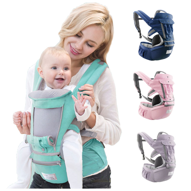 HereNice Newborn Baby Breathable Ergonomic Hipseat Rucksack Infant Kangaroo Carrier Aiebao Kids Hip Seat Wrap Sling