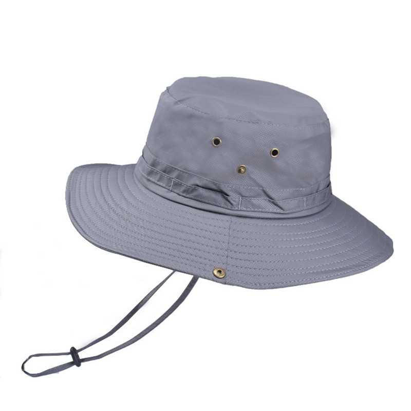 Wide Brim Sun Hat Outdoor Men Women Summer Quick Drying Bucket Hat Sunhat Foldable Sun UV Protection Hiking Beach Fishing Hat