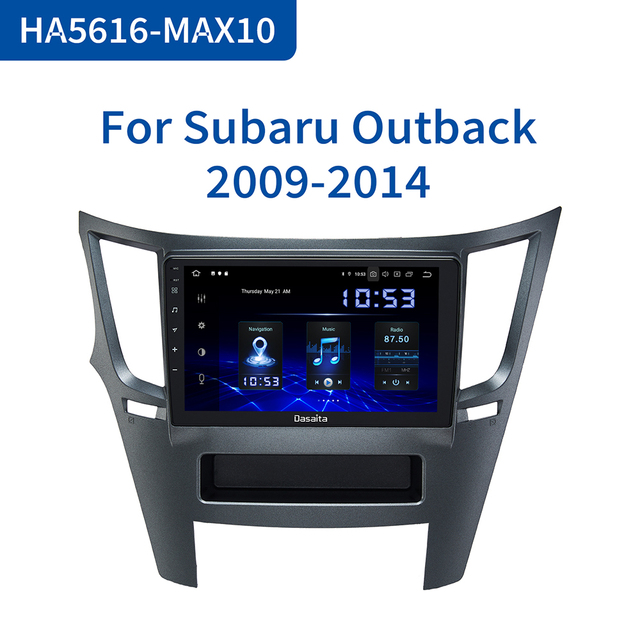 "Dasaita araba 1 din radyo Android 10.0 TDA7850 Subaru Legacy Outback için 2009 2010 2011 2012 2013 2014 USB MP3 9 ""IPS dokunmatik ekran"