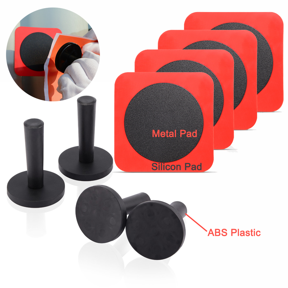 FOSHIO 2/4/8PCS Car Goods Vinyl Film Magnetic Holders Carbon Fiber Wraps Adsorbed Silicon Metal Pads Sticker Decals Fixing Tools