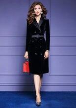 Женское бархатное платье блейзер zuoman элегантное винтажное