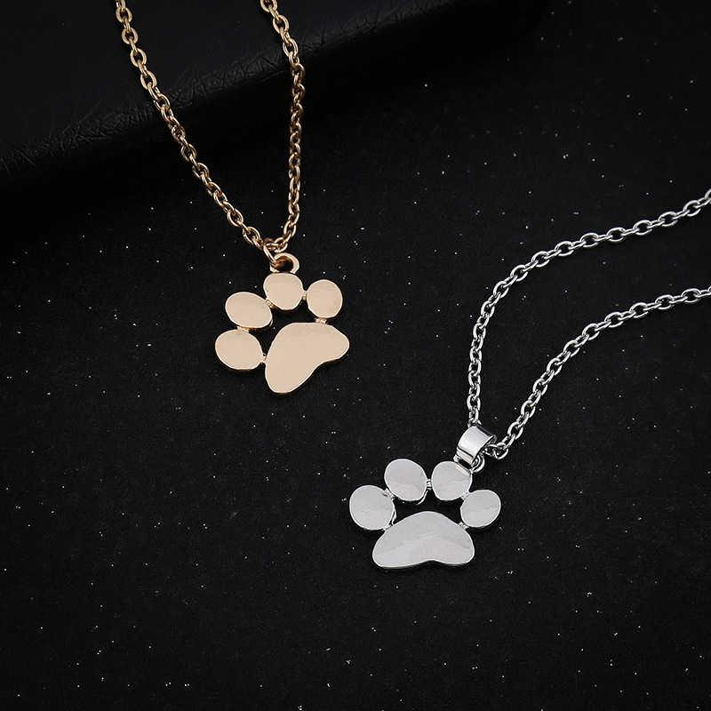 Collar de plata de garra de perro lindo para mujer gargantilla de moda cadena de oro Animal garra joyería gargantilla collar accesorios de mujer Bff regalo