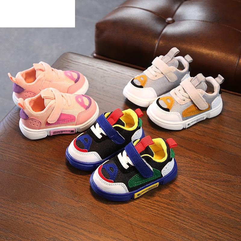 2018 Autumn Infant Baby Soft Bottom Toddler Shoes Baby Boys Girls Sports Shoes Comfortable Sneakers Size 15-25