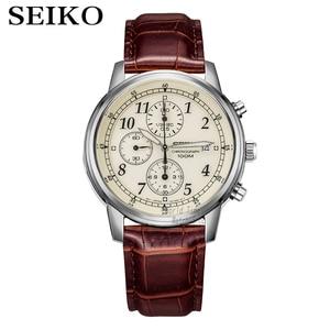 Image 1 - Seikoนาฬิกาผู้ชายหรูหราแบรนด์นาฬิกากันน้ำกีฬานาฬิกาChronographนาฬิกาควอตซ์นาฬิกาRelogio Masculino