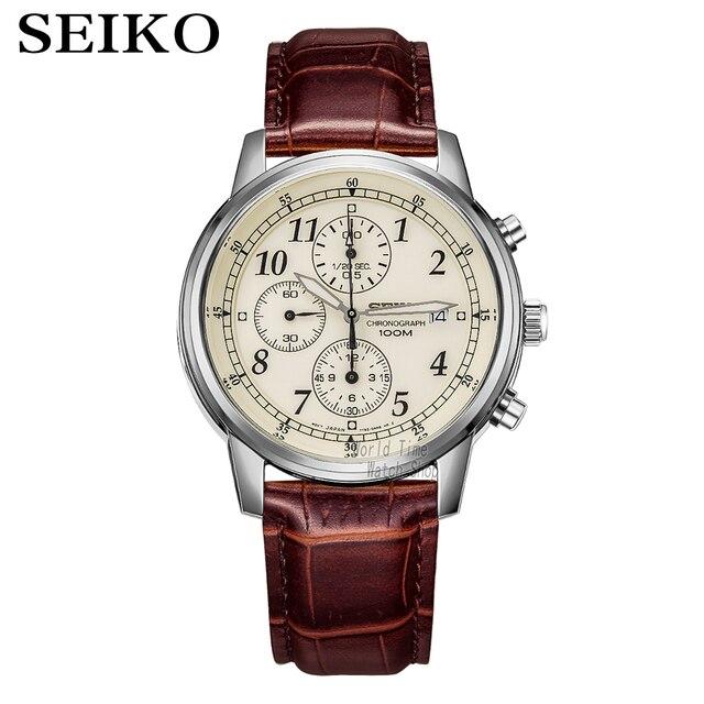 Seikoนาฬิกาผู้ชายหรูหราแบรนด์นาฬิกากันน้ำกีฬานาฬิกาChronographนาฬิกาควอตซ์นาฬิกาRelogio Masculino