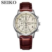 Часы seiko мужские наручные кварцевые, роскошные брендовые водонепроницаемые спортивные с хронографом