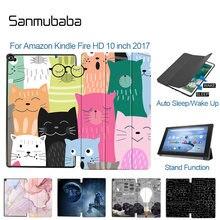 Sanmubaba 2017 чехол для планшета amazon kindle fire hd 10 дюймов