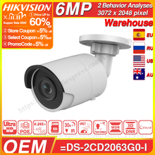 Hikvision Original and OEM 6MP IPC OEM From DS 2CD2063G0 I EasyIP 2.0Plus 6MP CCTV Camera IR Bullet Face Detect SD Card Slot