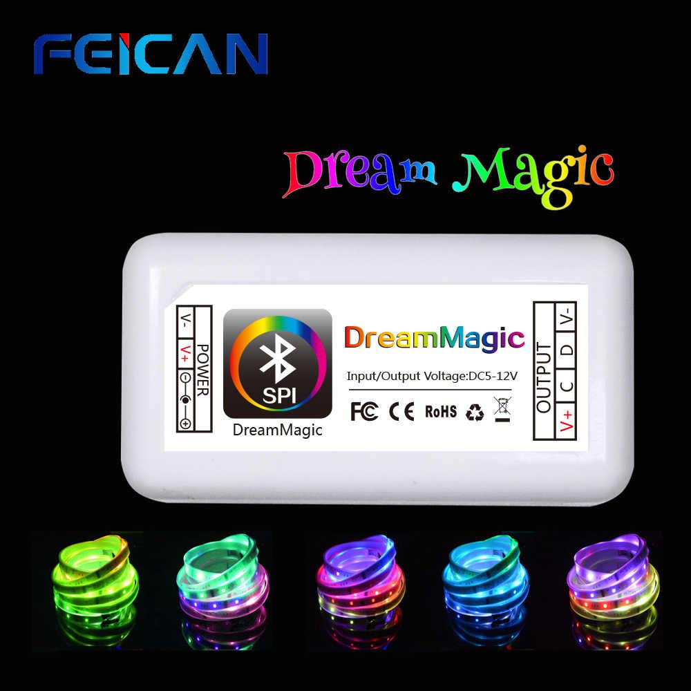 Kontroler LED RGB Bluetooth magia DC12-24V 10A 3CH kolor diody LED kontroler LED RGB przez Android i IOS aplikacja na SMD3528 5050 led