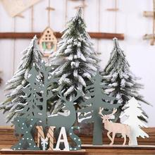 Elk Xmas Tree Pendants Hanging Wooden Christmas Ornaments Party DIY Decor Home Garden Decorative Supplies Tool