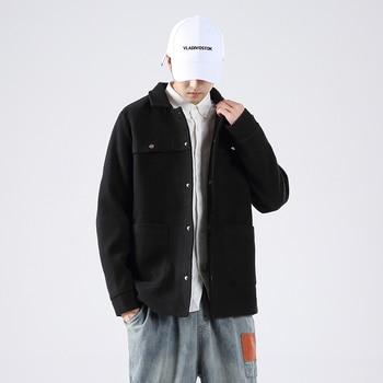 Short Wool Coat Korean Autumn Jacket Fuax Woolen Coat Men Coat Overcoat