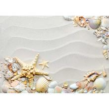 Fotografia Backdrops plaża piasek marszczyć rozgwiazda powłoki niestandardowe tła Party Decor Photocall dla dzieci zdjęcie dziecka Studio