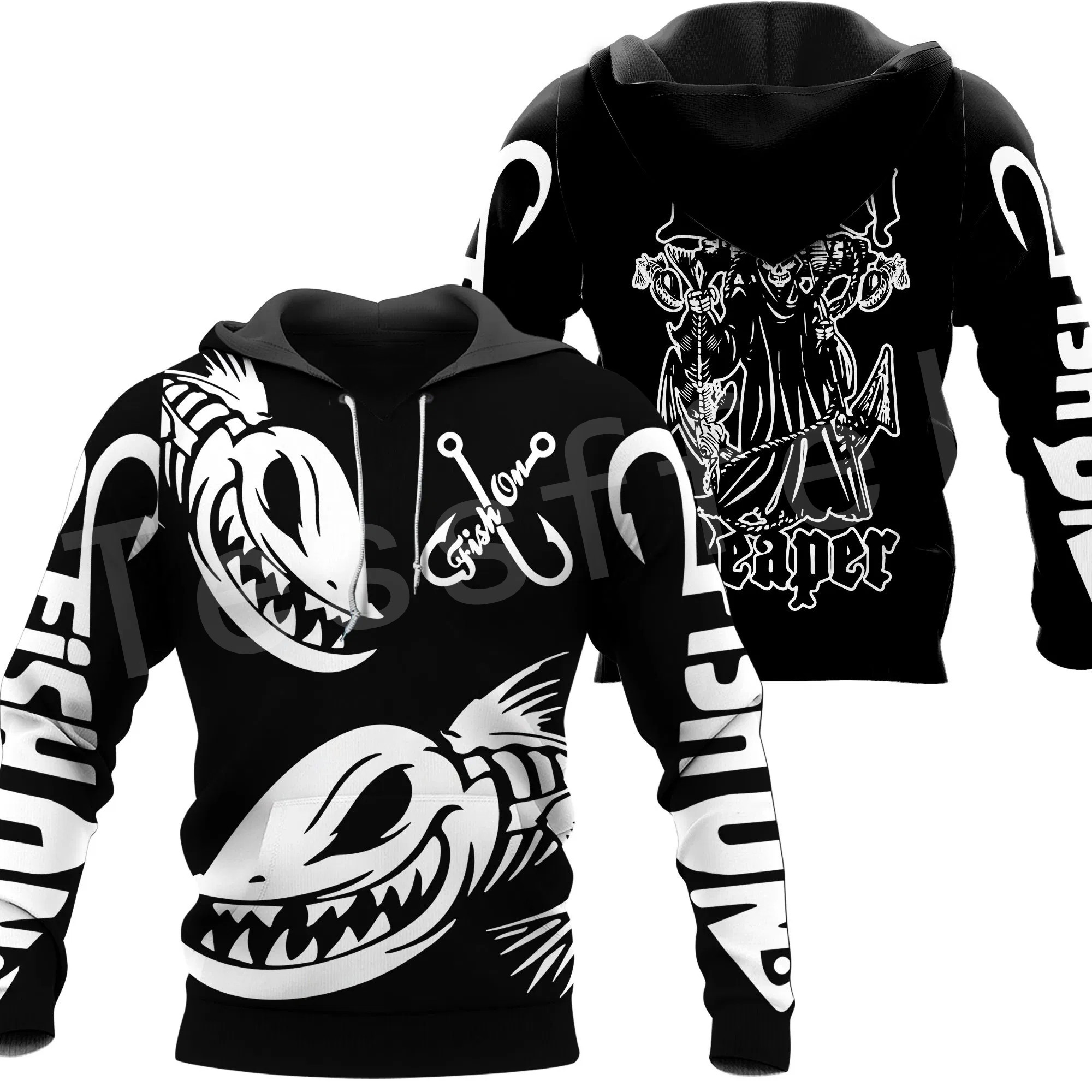Tessffel New Fashion Animal Camo Bass Fishing Fisher Tracksuit Harajuku Unisex 3DPrinted Zipper/Hoodies/Sweatshirts/Jacket s-10