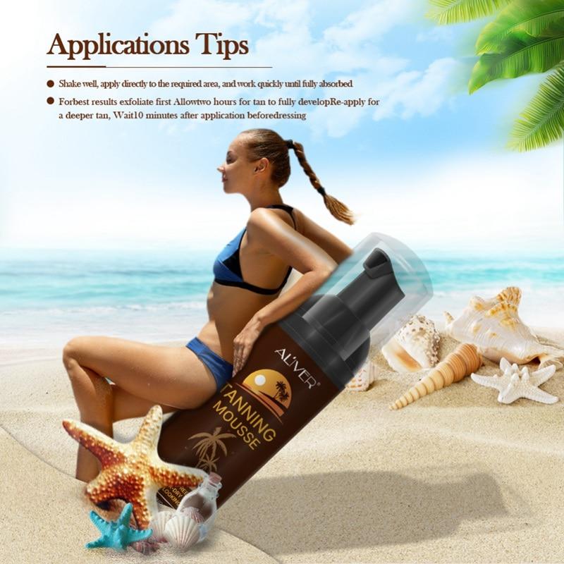 Body Lotion Body Self Tanners Cream Tanning Mousse For Bronzer Face Body Nourishing Skin Sun Block Makeup Medium Skin Care Cream
