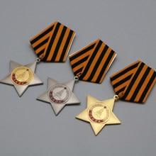 3 pçs/lote URSS CCCP Medalha Ordem de Glória Glória Medalha 1rd 2nd 3rd Classe Ordens Badge