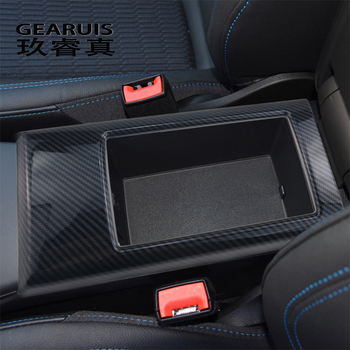 Car Styling Center Console Armrest Storage Box Decoration Cover Sticker Trim For Audi A3 8V S3 Interior Carbon Fiber Accessories цена 2017