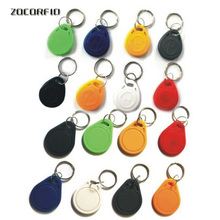 RFID IC keyfobs 13.56 MHz keychains NFC key tags ISO14443A MF 1k token tag for smart access control system