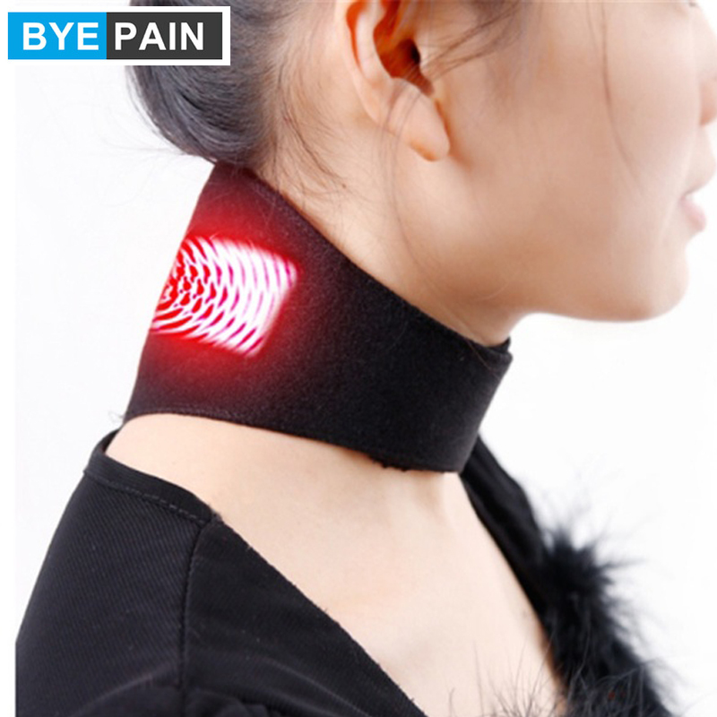 1 Pcs BYEPAIN Tourmaline Magnetic Therapy Neck Massager Cervical Vertebra Protection Spontaneous Heating Belt Body Massager