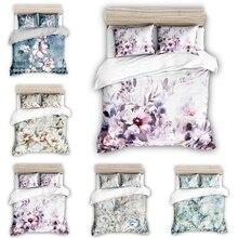 3D Home Bedding Flower Bedding Set 3pcs Duvet Cover Set Home Decor Pastoral Flat King Size Comforter Set ланчбоксы наборы посуды caki home 3pcs set 50 chds003