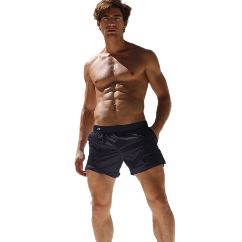 2019 Summer Board Men Shorts Sale Male Fashion Casual Translucent Mid Shorts Hot Sexy Beach Solid