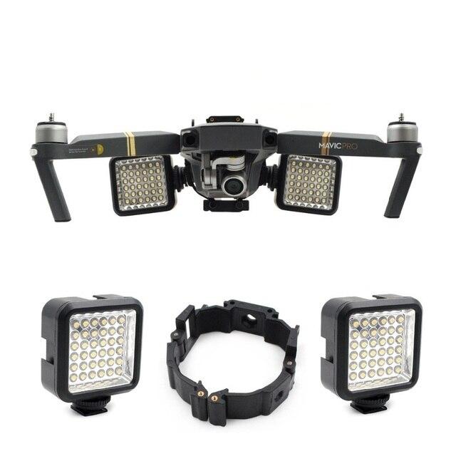 Soporte de hebilla para Dron DJI Mavic Pro Platinum, pieza de vuelo nocturno, luz LED, accesorios
