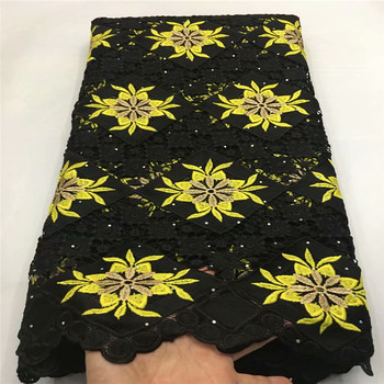 Latest African Guipure Cord Lace Fabric High Quality Lace Water Soluble 2020 French Lace Fabric For Nigerian Dress E82-387