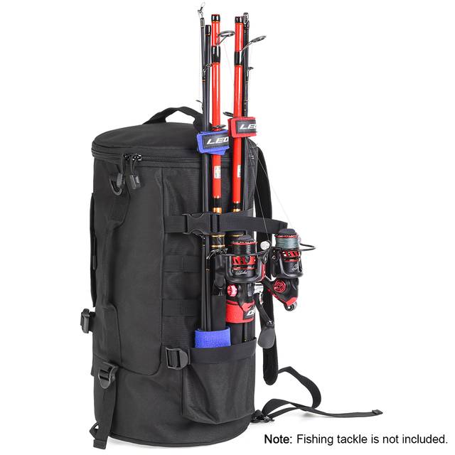 23L Large Capacity Multi purpose Fishing Tackle Backpack Outdoor Fishing Tool Carry Pouch Fishing Lure Bag Rod Holder Bag Case