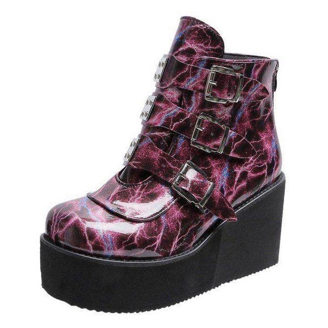 Details about  /New Women Creeper Low Heel Winter Warm Cotton Padded Ankle Boots 35//44 Outdoor D