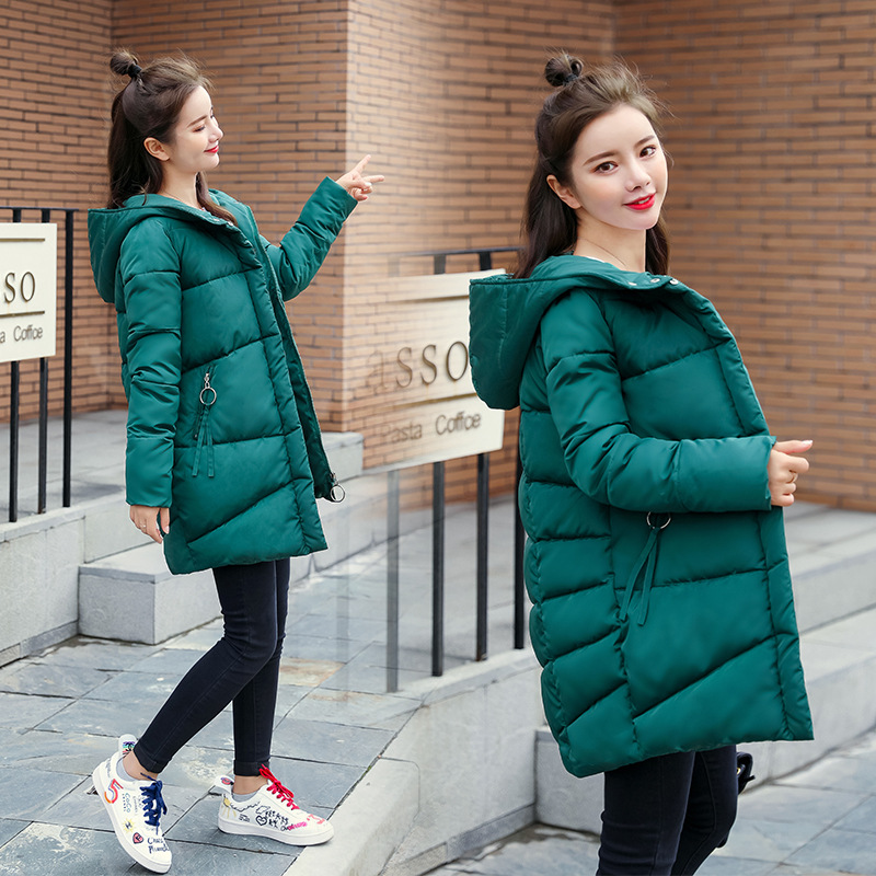 47%OFF For Subscribers Women winter jackets Casual solid thick warm   parkas   coat winter jackets coat female snow wear outwear