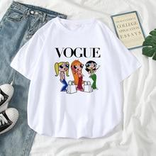 Cute Cartoon Printed Top Female T-shirt Summer Harajuku Streetwear Vintage
