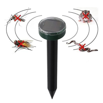 Ultrasonic Solar Mole Snake Mouse Pest Rodent Repeller Outdoor Garden Yard Anti Mosquito Snake Bird  LED Light Repeller