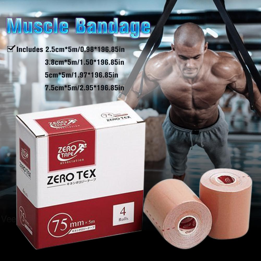 2.5/3.8/5/7.5 Cm * 5m Sports Elastoplast Strong Elastic Sports Tape Self Adherent Self Adhesive Tape Therapeutic Muscle Bandage