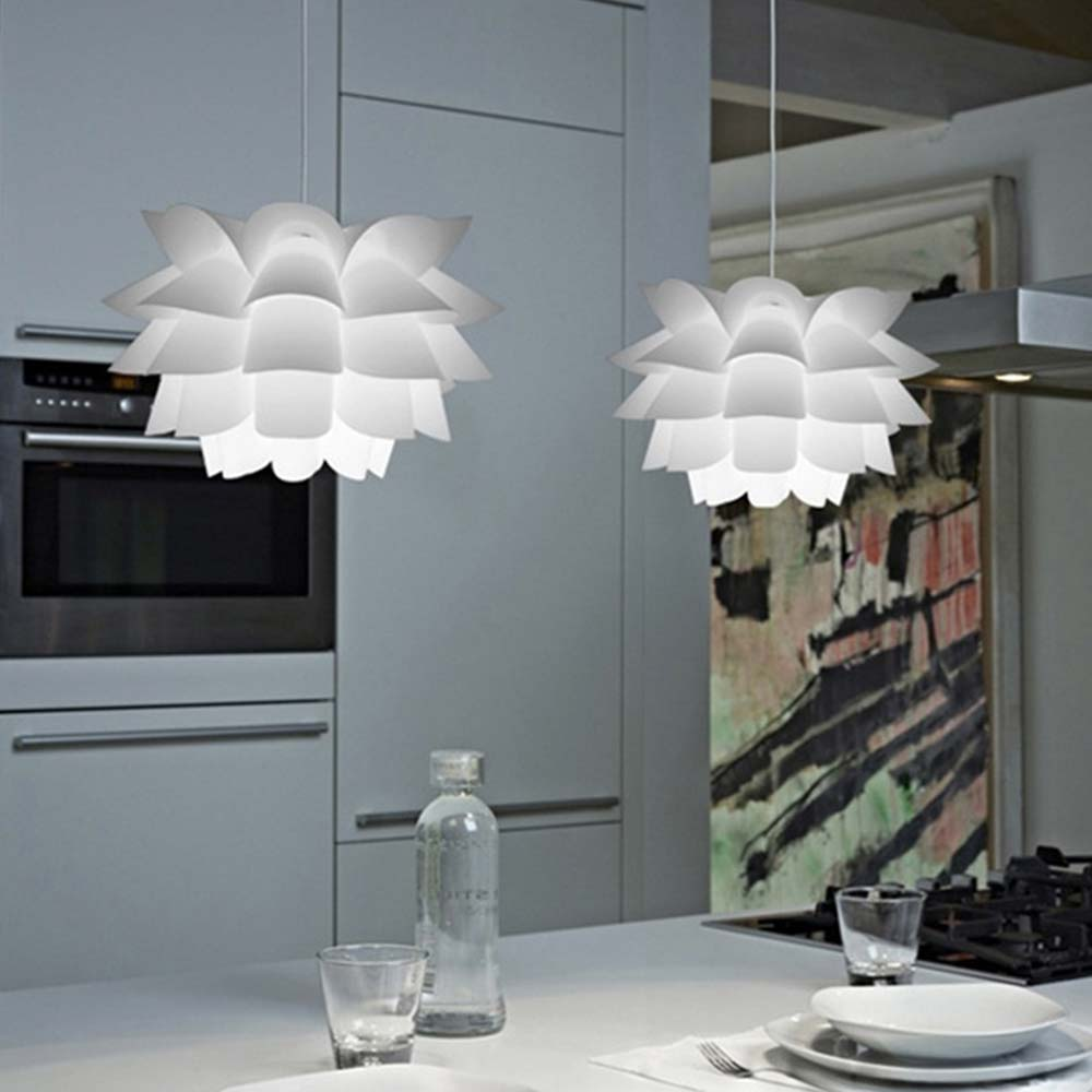 Ceiling Chandelier DIY Puzzle Light Lotus Chandelier Beautiful Durable AC110-240V PVC Hanglamp Modern Lamp Nordic