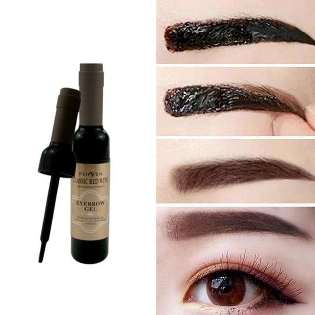 2Pcs Eyebrow Tattoo Gel Black Coffee Gray Peel Off Eye Brow Shadow Eyebrow Gel Makeup for Women High Pigmented Makeup 5