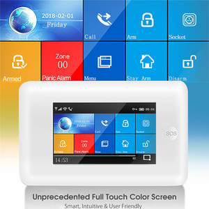 Image 4 - 3G Gsm Wifi Draadloze 433Mhz Alarmsysteem App Controle Smart Home Alle Touch Screen Smartlife Gprs Draadloze alarm Kits
