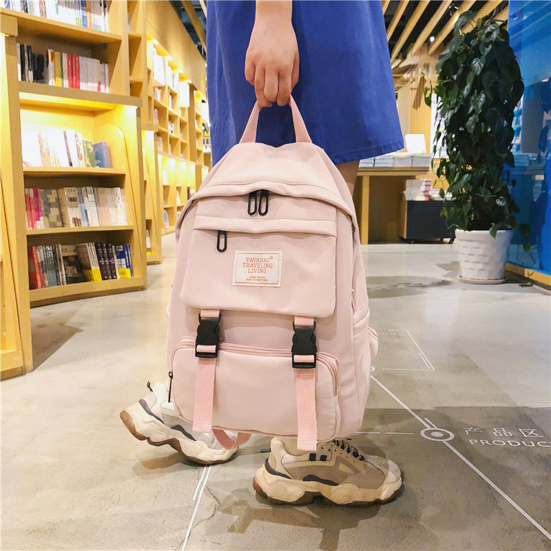 2020 Teen School Bags For Teenage Girls Backpack Women Student Bag School Bookbags Lightweight Canvas College Bagpack Green