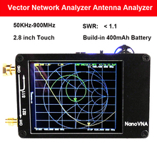 Портативная цифровая векторная сеть NanoVNA, 50 кГц 900 МГц, встроенный аккумулятор, анализатор HF, VHF, UHF