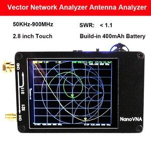 Image 1 - NanoVNA VNA H المحمولة الرقمية ناقلات شبكة 50KHz 900MHz MF HF VHF UHF هوائي محلل المدمج في البطارية