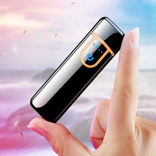 USB mini electronic lighter windproof metal Charging electric Lighters for men g