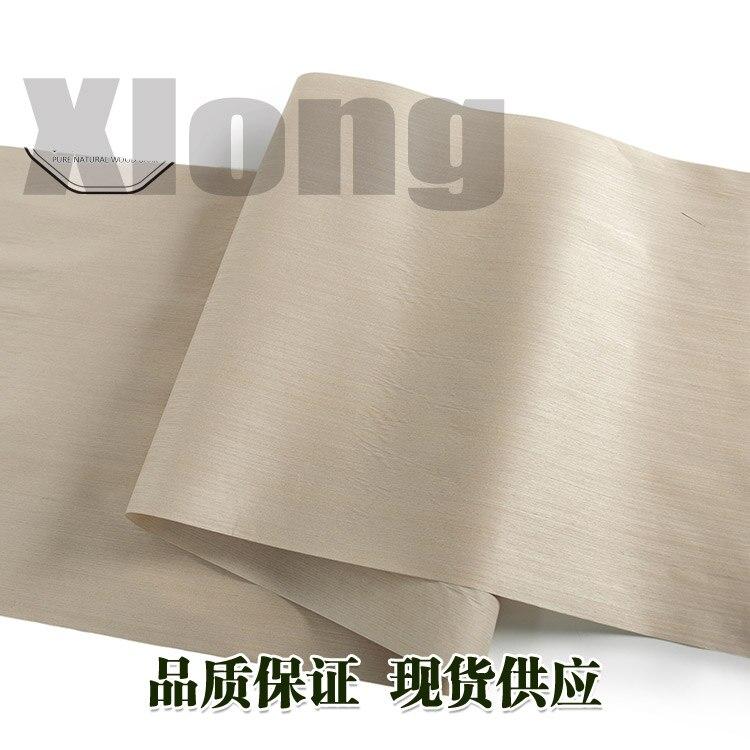 L:2.5Meters Width:600mm Thickness:0.2mm Shuanglong Technology Silver Pear Wood Veneer Straight Grain Solid Wood Manual Veneer