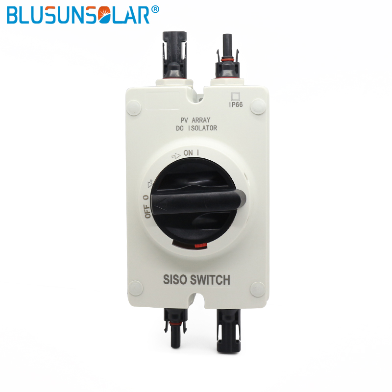 1 PCS/Lot hot selling high quality Solar Electrical DC Isolator Switch with 2 pairs SOLAR PV Connectors for Solar Power System