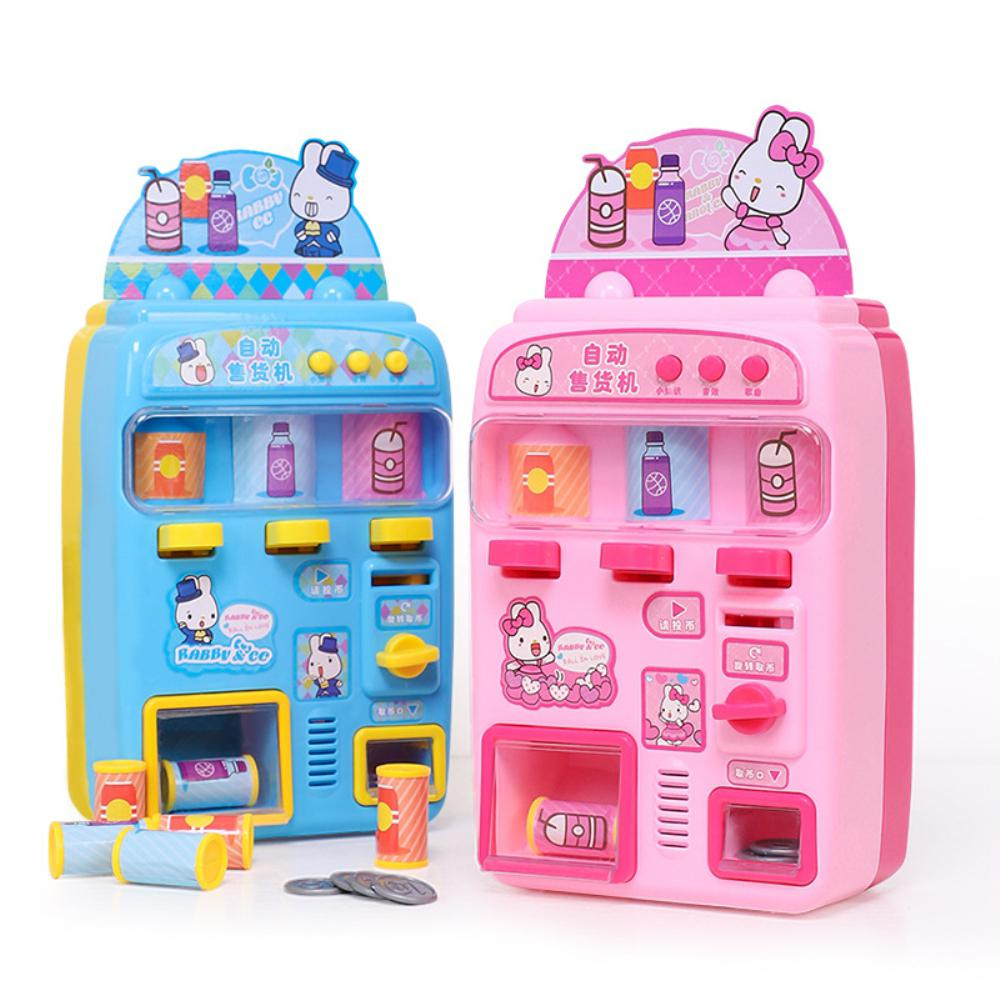 Kids Simulate Beverage Vending Machine Play-House Toy For 3-6 Years Old Girls Educational Toy