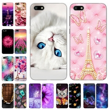 Silicone Cover For Huawei y5 y6 prime 2018 Printing Pattern