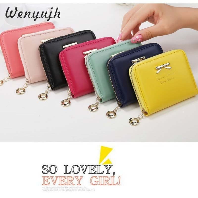 WENYUJH Purse Bow Wallet Female Lovely Short Wallet Holders Women Money Bag Kawaii Bag Lady Portable Small Bowknot For Girls