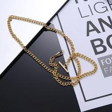 Watch-Holder Chain Pocket-Watch Classic Decoration Jean Belt Metal-Plated 65cm Golden
