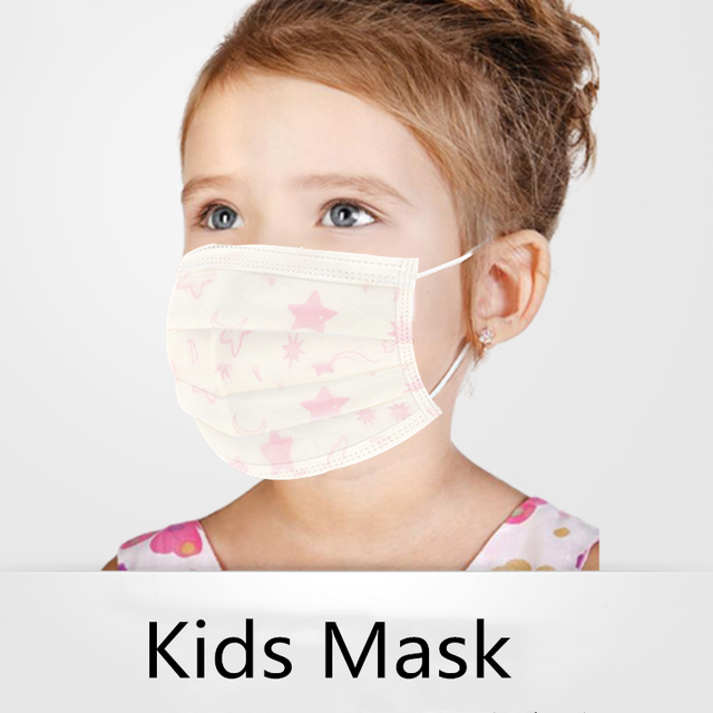 3 Layer Disposable Elastic Mouth Soft Breathable Children's Mouth Mask Cute Flu Hygiene Child Kids Face Mask Dropshipping маска
