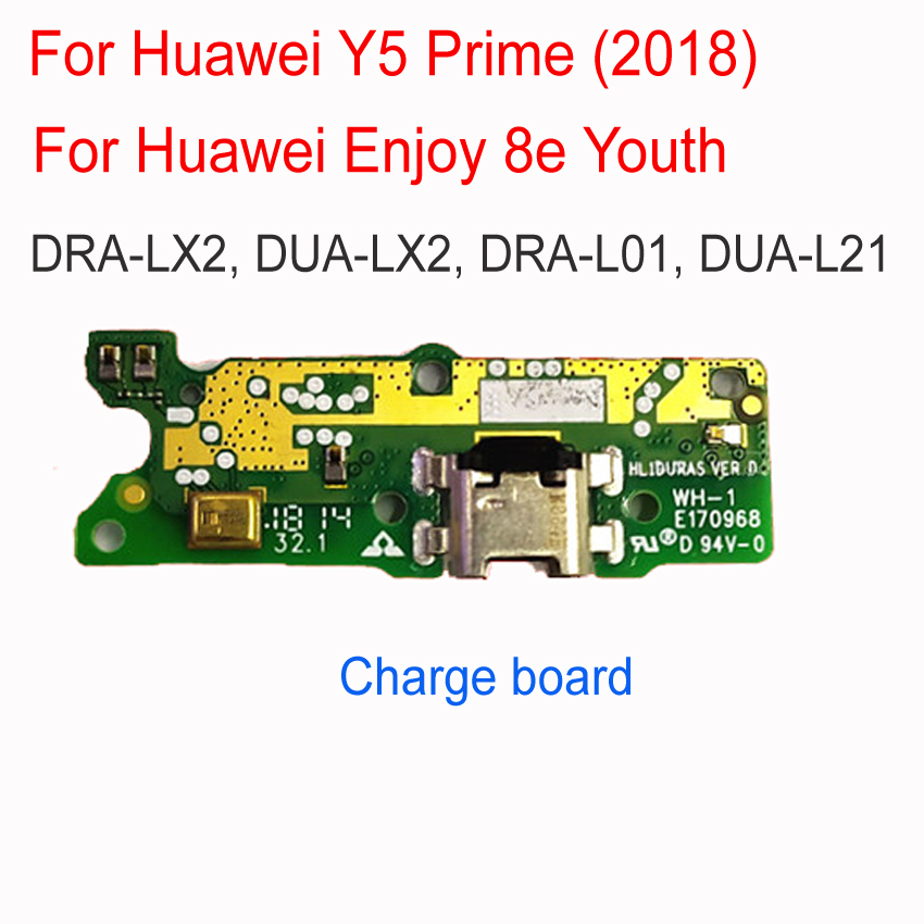 Dock Connector Micro USB Charge Port Flex Cable Board For Huawei Y5 Prime 2018 Enjoy 8e With Microphone Charging